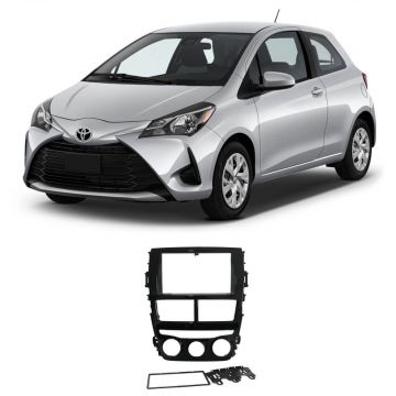 Moldura P/ Multimídia Toyota Yaris 2 Din Black Pianno 18/19